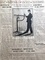 MAR 11, 1910 BASEBALL NEWSPAPER PG #LJ7433- NEW PITCHING INVENTION, P.H. LAKE