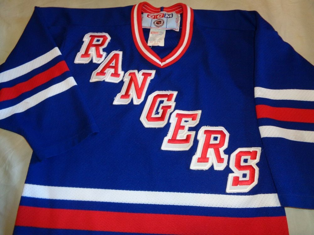 new products f69e3 1242a NEW YORK RANGERS CCM NHL HOCKEY JERSEY THROWBACK YOUTH SMALL /MEDIUM VINTAGE
