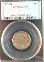 1920-S PCGS VF20 BUFFALO NICKEL