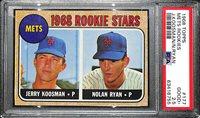 1968 Topps Nolan Ryan #177 Rookie Card Graded PSA 2.5 GD+