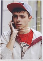 """Nathan Sykes """" the wanted"""" - autographed promo #2274"""