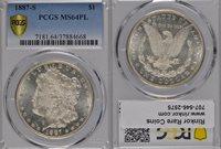 1887-S MS64 PL PCGS $1