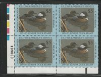 JDS2 1994 2nd Federal Junior Duck Stamp SUPERB LL Plate Block-Ebay Low-Offer?