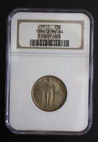1917 Standing Liberty Type 2 Quarter Dollar NGC MS 64
