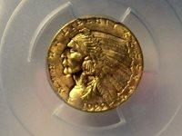 PCGS MS63 US Gold $2.50 Indian Head Quarter Eagle Random Date
