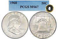1960-P FRANKLIN EVEREST PCGS MS 67