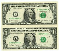 Usa/Federal Reserve … P-515a (F-192BE) ... 1 Dollar .. 2003 .. Ch*UNC* Pair.