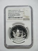 NORTH MARIANA ISLANDS 2004 5 DOLLARS SILVER PROOF COIN NGC PF70 ULTRA CAMEO