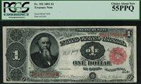1891 $1 Treasury Note FR-352 - Stanton - Graded PCGS 55PPQ