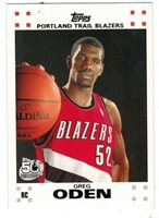 GREG ODEN RC LOT 2007-08 TOPPS ROOKIE RC White Border #1 OF 14 50TH ANNIVERSARY