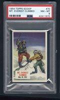 1954 Topps Scoop #70 Mt. Everest Climbed PSA 8
