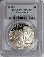 2007-P $1 Jamestown Commemorative PR70DCAM PCGS