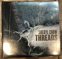 """SHERYL CROW Signed """"Threads"""" Autographed Record LP"""
