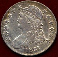 1831 BUST 50c ... AU