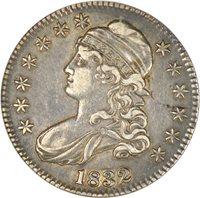 1832 Capped Bust Half Dollar ANACS EF45 O-106