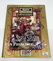 Steve Young Jerry Rice team signed Sports Illustrated autographed PSA J45973