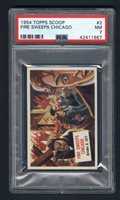 1954 Topps Scoop #2 Fire Sweeps Chicago PSA 7
