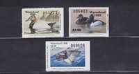 State Hunting/Fishing Revenues - MO - 1988-90 Duck Stamps - 3 Different - MNH
