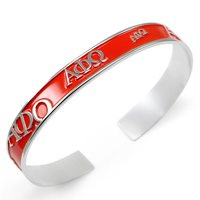 Alpha Phi Omega Bangle with raised letters and red enamel APO NEW!