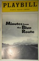 MINUTES FROM THE BLUE ROUTE - PLAYBILL - FEB 1997, ATLANTIC THEATER COMPANY