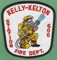 KELLY-KELTON SOUTH CAROLINA STATION 600 FIRE DEPARTMENT PATCH