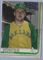 2019 Topps Series 2 565 Catfish Hunter Photo variation veteran A's