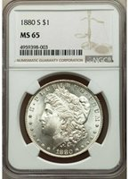 1880-S MORGAN SILVER DOLLAR - NGC MS 65 - CREAMY LUSTER, BEST COIN & BEST PRICE