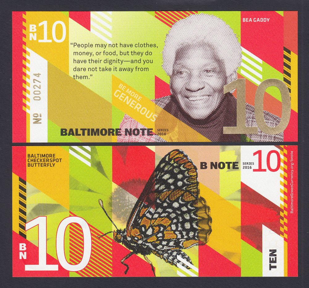 USA 2016 Local Currency SET 4 Pcs BALTIMORE NOTE 1 5 10 /& 20 UNC