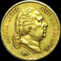 40 Francs Louis XVIII 1817 A