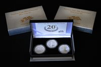 2006 20th Anniversary Silver Eagle Three Coin Set2006 20th Anniversary Silver Eagle Three Coin Set2006 20th Anniversary Silver Eagle Three Coin Set