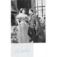 Viveca Lindfors signed album page complete with a 10x8 B/W photograph from the Movie The Adventures Of Don Juan. Viveca Lindfors.
