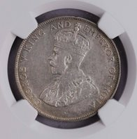 NGC-XFD 1920 STRAITS 50CENTS WITH DOT SILVER