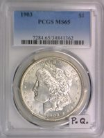 1903 Morgan Dollar PCGS MS-65; Premium Quality