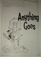 ANYTHING GOES - SHOWBILL - ORPHEUM THEATRE, NYC - 1962