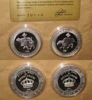 """1997 SULTANATE Occussi-Ambeno Yr.OX $1D proof Silver coins set with COA """"RARE"""""""