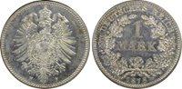 German Empire 1 Mark Silver 1878-F (Stuttgart)