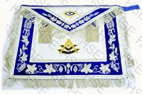 MASONIC REGALIA PAST MASTER APRON BLUE FULLY HAND EMBROIDERED-HSE
