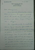 1959 91) Letter Autographed Monseigneur Lithuanian Ladislaus Tulaba By New York