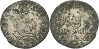 Beischlag Dreigröscher Trojak 1583 Polen Litauen Wilna Stephan Bathory, 1576-1586 Billon