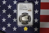 1994 P Women Veterans Silver Proof Dollar - Commemorative - NGC PF69 Cameo (S49)