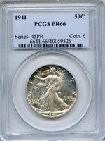 1941 Walking Liberty Half Dollar PCGS PR66 ~ Proof 50c (40059526)