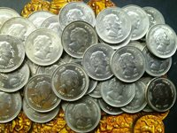 India Republic 5 rupees 1985 Death-of-Indira-Gandhi-states person.