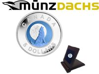 $5 Full Wolf`s Moon Niobium Sterling Silver Canada Proof 2012 Sold Out