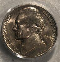 1948 D JEFFERSON NICKEL PCGS MS 65 BU++ KM192