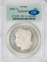 1893-O MORGAN S$1 MS65 DMPL