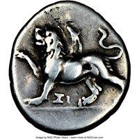 Ancient Greece Sicyonia Sicyon 350-280BC AR triobol NGC ChF 5/5, 2/5 Smoothed