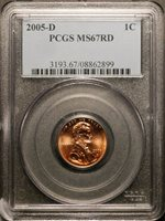 2006 D Lincoln Cent 1c PCGS MS67RD  Business Strike