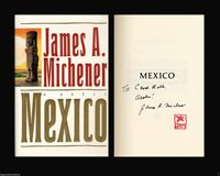 JAMES MICHENER Autographed Signed Book MEXICO