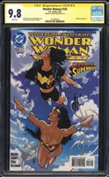 Wonder Woman 153 CGC 9.8 (signature series)! App of Superboy SIGNED ADAM Hughes!