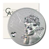 Cameroon Angels of Love 1000 CFA 2010 Hologram Proof Silver Crown COA